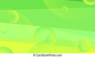 Vibrant green and yellow minimal abstract video animation -...