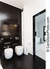 vibrant, huisje, -, badkamer, interieur