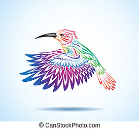Vibrant hummingbird - Colorful hummingbird