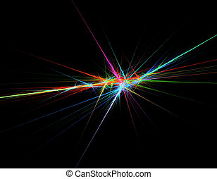 vibrant, lined, fractal