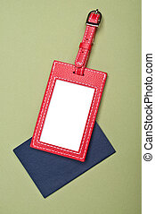 Holiday Travel - Vibrant Luggage Tag with Generic Passport ...