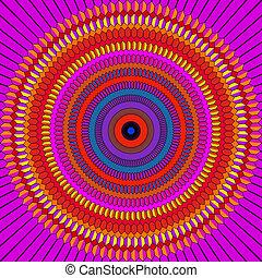 vibrant mandala pattern