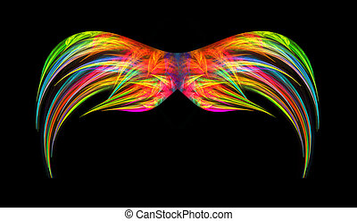 Vibrant Multi Colored Abstract Wings