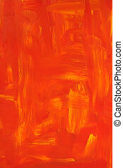 Vibrant oil painted background. Texture of red and orange...