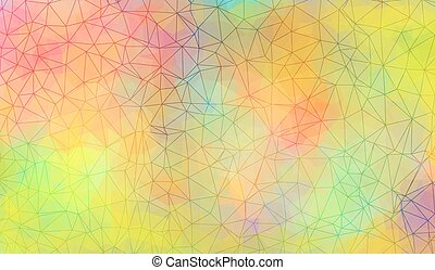 Vibrant mosaic, polygonal background in vector. Eps10
