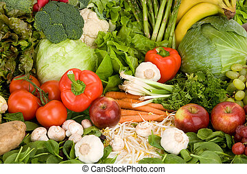 Vibrant Produce Closeup - This is a close-up of vegetables ...
