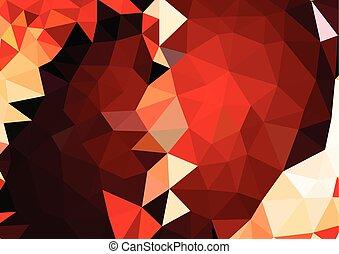 vibrant, résumé, polygonal, fond, mosaïque, 3d