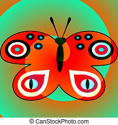 Vibrant red butterfly