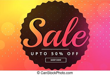 vibrant sale banner poster design template