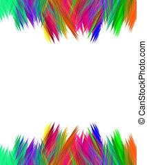 Vibrant scribble edge borders over white background