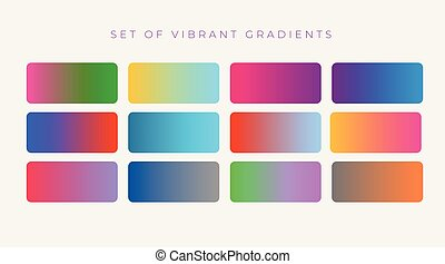 vibrant set of colorful gradients