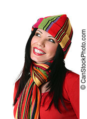 Vibrant smiling woman