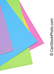 Vibrant Stack of Paper Background
