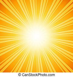 Vibrant sunburst background