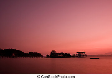sunset at pangkor island