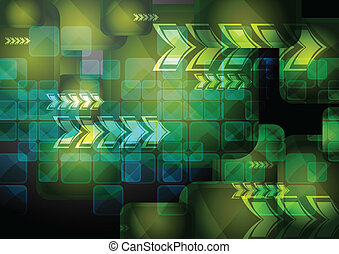 Vibrant technical backdrop - Abstract tech background with ...