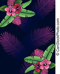 Vibrant tropical background
