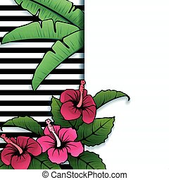 Vibrant tropical hibiscus banner