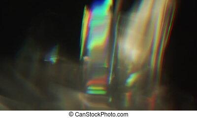 Vibrant vhs light beams, random distortion, noisy tv...
