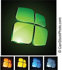 vibrante, 3d, emblems.