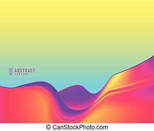 vibrante, astratto, colori, ondulato, fondo, elegante