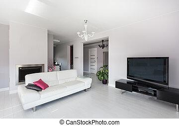 vibrante, cabana, -, sala de estar