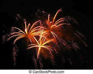 vibrante, fuegos artificiales, colorido