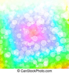 vibrante, multicolored, luzes, bokeh, blurry experiência