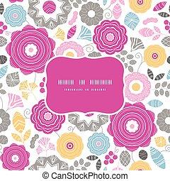 vibrante, quadro, scaterred, seamless, vetorial, padrão experiência, floral