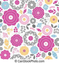 vibrante, scaterred, seamless, padrão experiência, floral