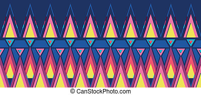 vibrante, seamless, padrão experiência, horizontais, borda, triângulos