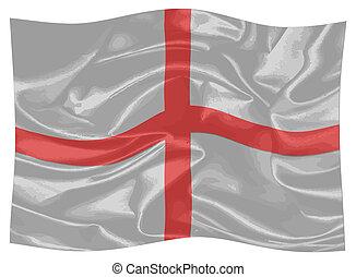 vibrar, bandeira, inglaterra, george, st