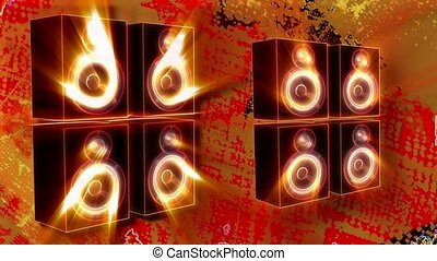 Vibrating speakers