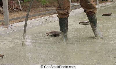 Vibration Building Foundation - Building concrete foundation...