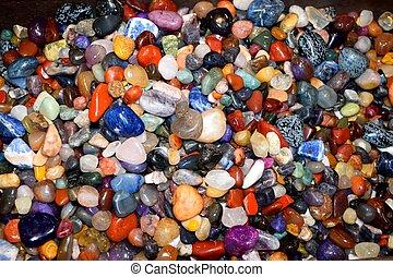 vibrerande färg, vagga, stenar