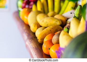 vibrerande, frukt
