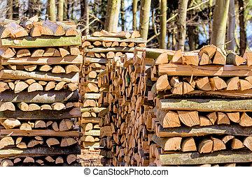 vice-cut, troncos, árvore