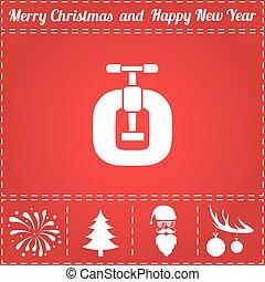 Vices Icon Vector. And bonus symbol for New Year - Santa...