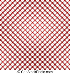 vichy, pattern., rouges