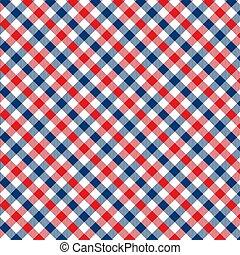 vichy, rhombus/squares, plaid, modèle, -, texture, textile, autre, édredons, rouges, blue., vêtements, illustration, robes, chemises, products., couvertures, 10, literie, papier, nappes, eps, vecteur