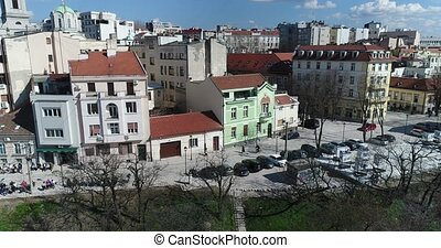 Vicinity of St. Michael cathedral in Belgrade - Aerial view...