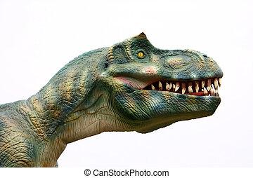 Vicious dinosaur - Head of vicious dinosaur as isolated...