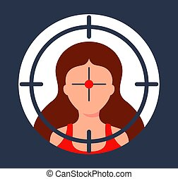 victim., choix, fusil, intimider, sniper., sous, girl