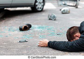 Victim of a car accident