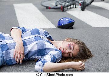 Victim of a car crash
