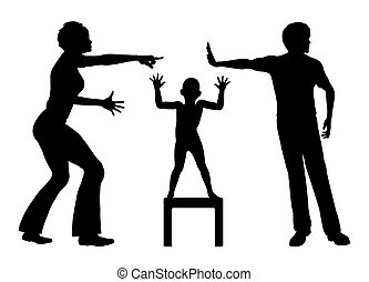 Victim of domestic conflicts - Child suffers in a crossfire,...