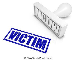 Victim Rubber Stamp - VICTIM rubber stamp. Part of a series...