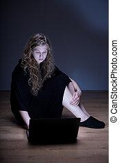 victime, cyberbullying