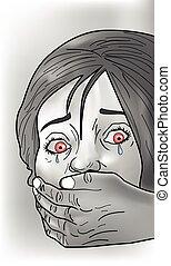 victime, enlever, illustration