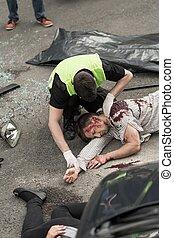 victimes, de, accident voiture